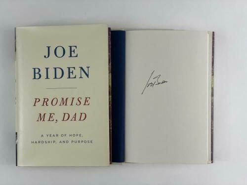 """President Joe Biden Signed Autograph """"promise Me, Dad"""" Book Barack Obama Vp 2020"""