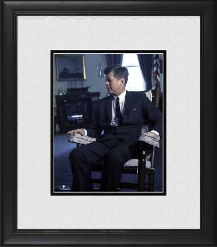 "President John F. Kennedy Framed 8"" x 10"" Seated in White House Photograph"