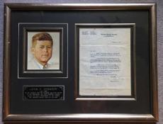 President John F Kennedy Signed Autographed 1953 Senate Letter Beckett BAS