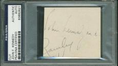 President John F. Kennedy Signed Autographed 2x3 Album Page PSA/DNA