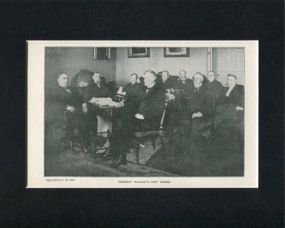 President William McKinley First Cabinet Original Engraving Book Photo Display