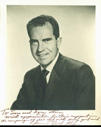 President Richard Nixon Signed 8X10 Vintage Photo PSA/DNA #AB08234