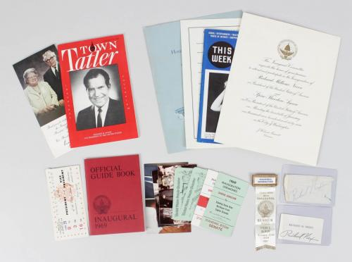 President Richard Nixon Signed Cut Lot – COA JSA
