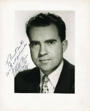 """President Richard Nixon """"Us Senator"""" Signed 8X10 Photo PSA/DNA #V03051"""