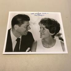 President Ronald Reagan & Nancy Reagan Signed Autographed 8x10 Photo
