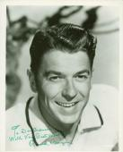 President Ronald Reagan Signed 8X10 B&W Photo Autographed JSA #Y77078