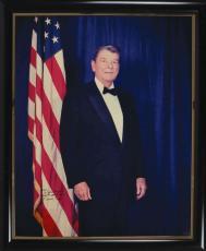 President Ronald Reagan Signed Autographed 24x30 Photograph Beckett BAS