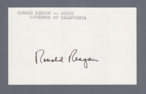 President Ronald Reagan Signed? Autopen? Index Card