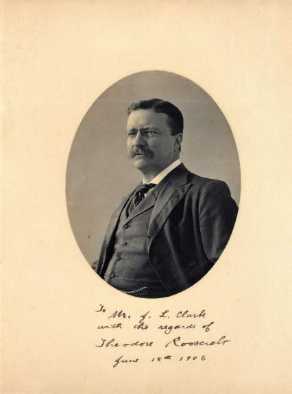 President Theodore Roosevelt Signed Autographed 10x13 Photo Beckett BAS MINT 10