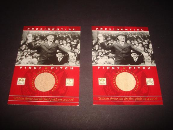 President Woodrow Wilson 2002 Topps First Pitch Griffith Stadium Seat Relic A17
