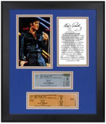 PRESLEY, ELVIS FRAMED (68 COMEBACK) PHOTO w/TICKET