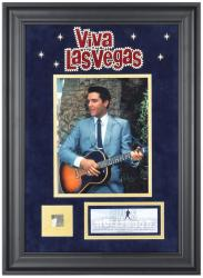 PRESLEY, ELVIS FRAMED Photo (VIVA LAS VEGAS) COLLAGE w/HOLLYWOOD SIGN