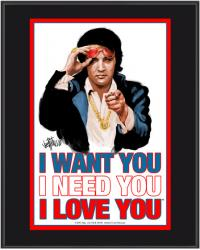 "Elvis Presley Sublimated 10x13 ""I Want You, I Need You, I Love You"" Plaque"