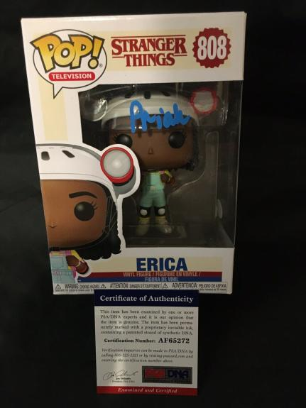 Priah Ferguson Signed Official Erica Funko Pop Vinyl Figure Stranger PSA/DNA