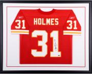 Priest Holmes Kansas City Chiefs Framed Autographed Red Reebok Jersey