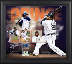Prince Fielder Detroit Tigers Framed 15'' x 17'' Collage with Game-Used Ball - Limited Edition of 500 - Mounted Memories