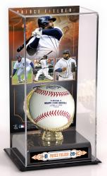 Prince Fielder Detroit Tigers Gold Glove Baseball Display Case - Mounted Memories