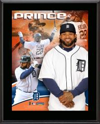 Prince Fielder Detroit Tigers Sublimated 10.5'' x 13'' Composite Plaque - Mounted Memories
