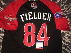 Prince Fielder Signed/Auto 2015 All Star Jersey Texas Rangers PSA/DNA