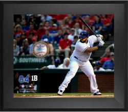 Prince Fielder Texas Rangers Framed 20'' x 24'' Gamebreaker Photograph with Game-Used Ball - Mounted Memories