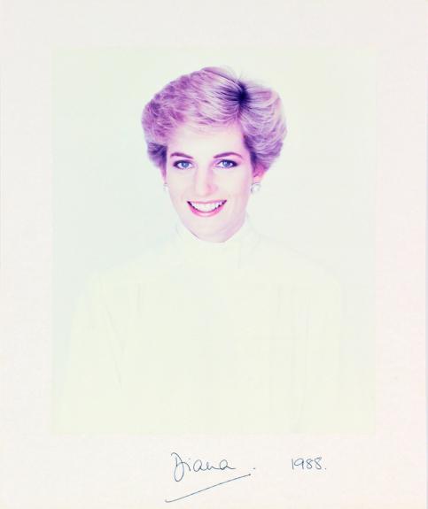 Princess Diana 1988 Signed 10x12 Mounted Photo Autographed BAS #A39045