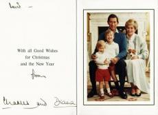 Princess Diana & Prince Charles Signed Greeting Card PSA/DNA #T11873