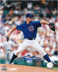 "Mark Prior Chicago Cubs Autographed 8"" x 10"" Blue Jersey Photograph"