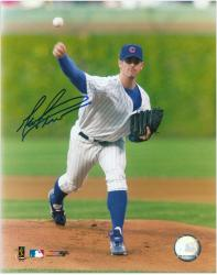 "Mark Prior Chicago Cubs Autographed 8"" x 10"" Pitching Photograph"