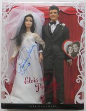 """Priscilla Presley Signed """"Elvis and Priscilla"""" Pink Label Barbie Doll PSA/DNA"""
