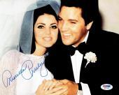 Priscilla Presley w/ Elvis Signed Authentic Autographed 8x10 Photo PSA/DNA #4