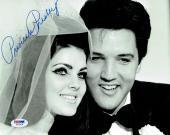 Priscilla Presley w/ Elvis Signed Authentic Autographed 8x10 Photo PSA/DNA #6