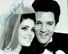 Priscilla Presley w/ Elvis Signed Authentic Autographed 8x10 Photo PSA/DNA #6