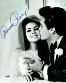 Priscilla Presley w/ Elvis Signed Authentic Autographed 8x10 Photo PSA/DNA #7