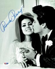 Priscilla Presley w/ Elvis Signed Authentic Autographed 8x10 Photo PSA/DNA #7