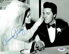 Priscilla Presley w/ Elvis Signed Authentic Autographed 8x10 Photo PSA/DNA #8
