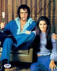 Priscilla Presley w/ Elvis Signed Autographed 8x10 Photo PSA/DNA #W71464