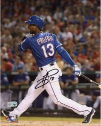 Jurickson Profar Texas Rangers Autographed 8'' x 10'' Hitting Photograph - Mounted Memories