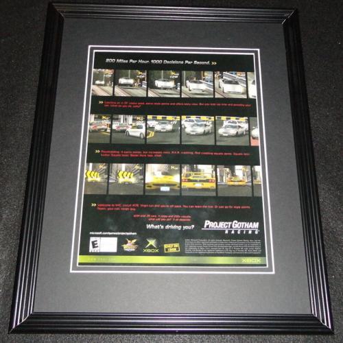 Project Gotham Racing 2001 XBox 11x14 Framed ORIGINAL Advertisement
