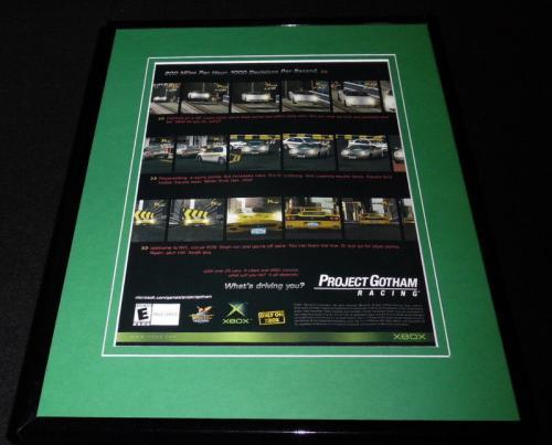 Project Gotham Racing 2002 XBox 11x14 Framed ORIGINAL Advertisement