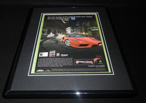 Project Gotham Racing 2003 XBox 11x14 Framed ORIGINAL Advertisement