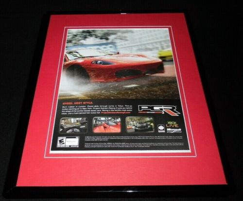 Project Gotham Racing 3 2005 XBox 11x14 Framed ORIGINAL Advertisement