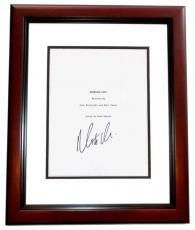 PROMISED LAND Signed - Autographed Script by Matt Damon MAHOGANY CUSTOM FRAME