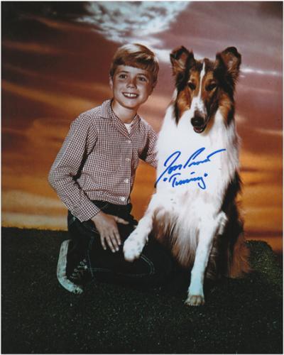 Jon Provost Lassie Autographed 8'' x 10'' Photograph with Timmy Inscription