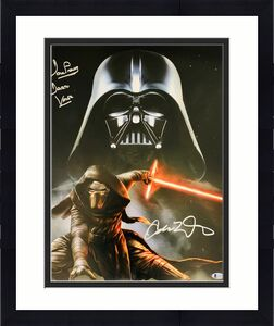 Prowse and Driver Signed Star Wars Darth Vader Kylo Ren 16x20 Photo Beckett