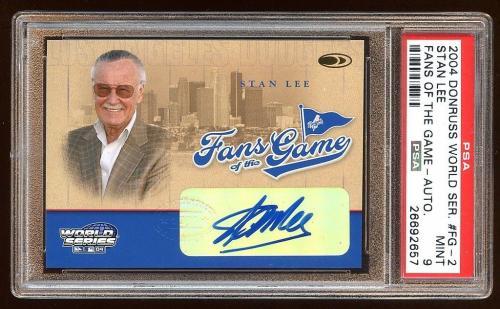 Psa 9 Stan Lee 2004 Donruss Autograph Sp Auto Fans Of The Game  Rare  Mint Psa 9