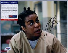 Psa/dna 8x10 Signed Photo Uzo Aduba  (orange Is New Black) 2193