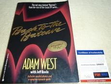 Psa/dna Adam West Autographed-signed Back To The Batcave Batman Book X89825