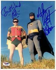 "Psa/dna Adam West ""batman""& Burt Ward ""robin"" Autographed-signed 8x10 Photo 361"