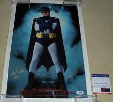 Psa/dna Batman Adam West Autographed-signed Inscribed Poster-photograph Z50178