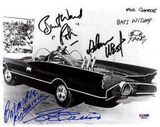 Psa/dna Batman Adam West-burt Ward-bob Kane-george Barris Autographed 8x10 Photo